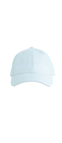 LOGO EMBROIDERED WOOL CAP-WHITE