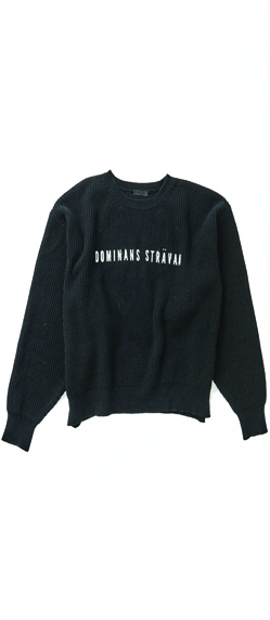 OVERSIZE A CREW NECK  WOOL SWEATER 3COLOR